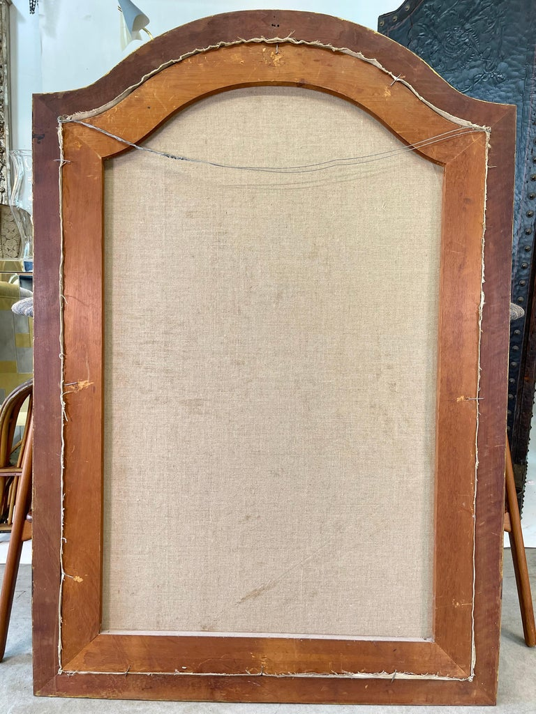 Commedia dell'arte O/C in Giltwood Architectural Frame For Sale 3