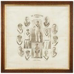 Commemorative Cricket Handkerchief, 1930 Australian Cricket Team