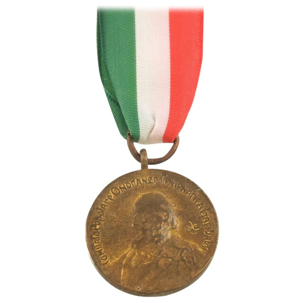 Commemorative Garibaldi Bronze Medal by Italian Manufacture, 20th Century