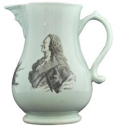 Commemorative Jug: George II. Worcester, circa 1759