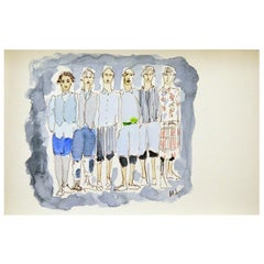 Commes des Garçon, Watercolor on Paper
