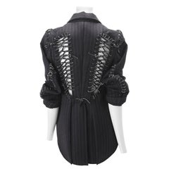 Commes des Garcons Corset Jacket w/ Leather Ties 2004
