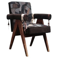 Committee Chair with patchwork by Pierre Jeanneret