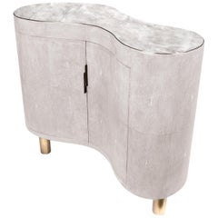 Commode in Quartz, Shagreen and Brass by Kifu Paris
