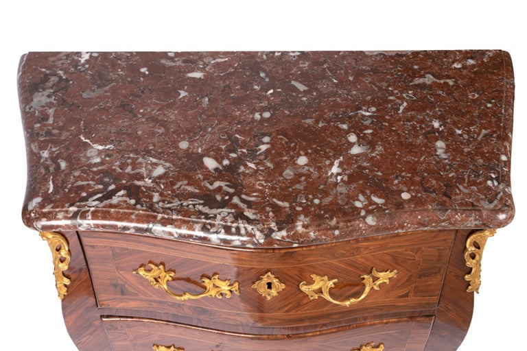 Marquetry Commode Louis XV Period Dresser, 18th Century For Sale