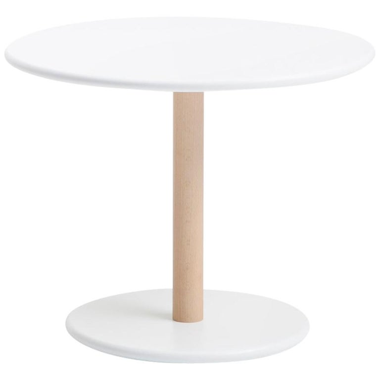 Viccarbe Common Low Table, White Finish H 17.7 inches by Naoto Fukasawa For Sale