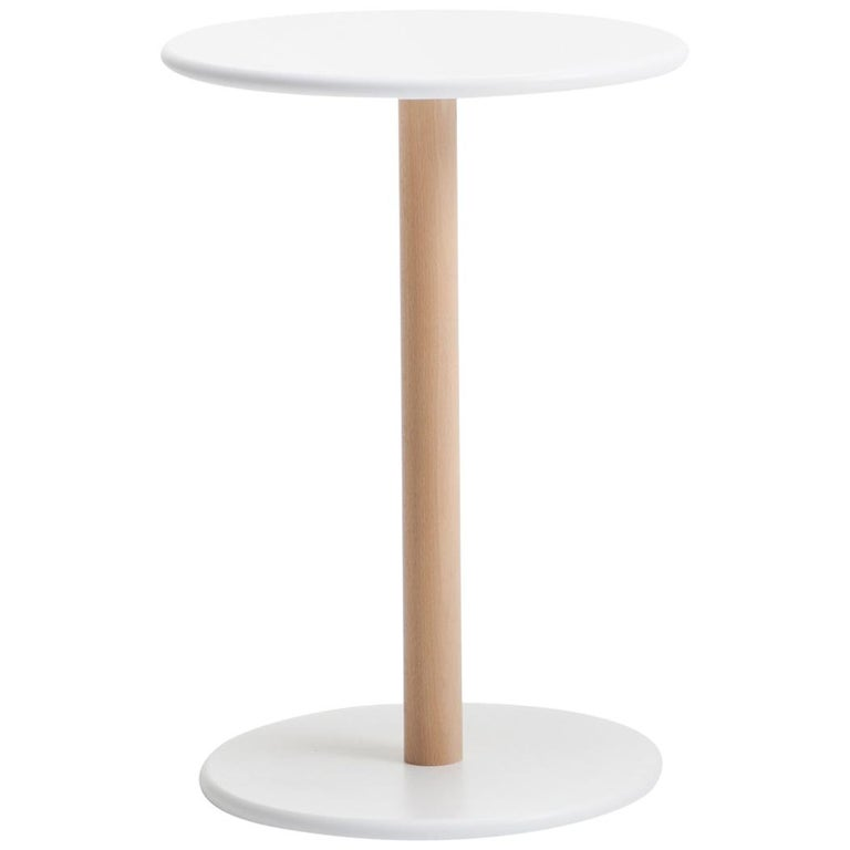 Viccarbe Common Low Table, White Finish H25 inches by Naoto Fukasawa For Sale