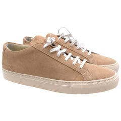 Common Projects Achilles Low Amber Suede Sneakers - Size 43