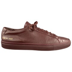 COMMON PROJECTS Size 10 Burgundy Achilles Low Bordeaux Sneakers