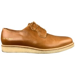 COMMON PROJECTS Size 11 Tan Leather Crepe Sole Lace Up Shoes