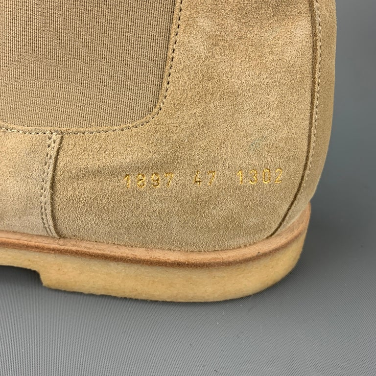 COMMON PROJECTS Size 14 Beige Suede Pull On Chelsea Boots 2