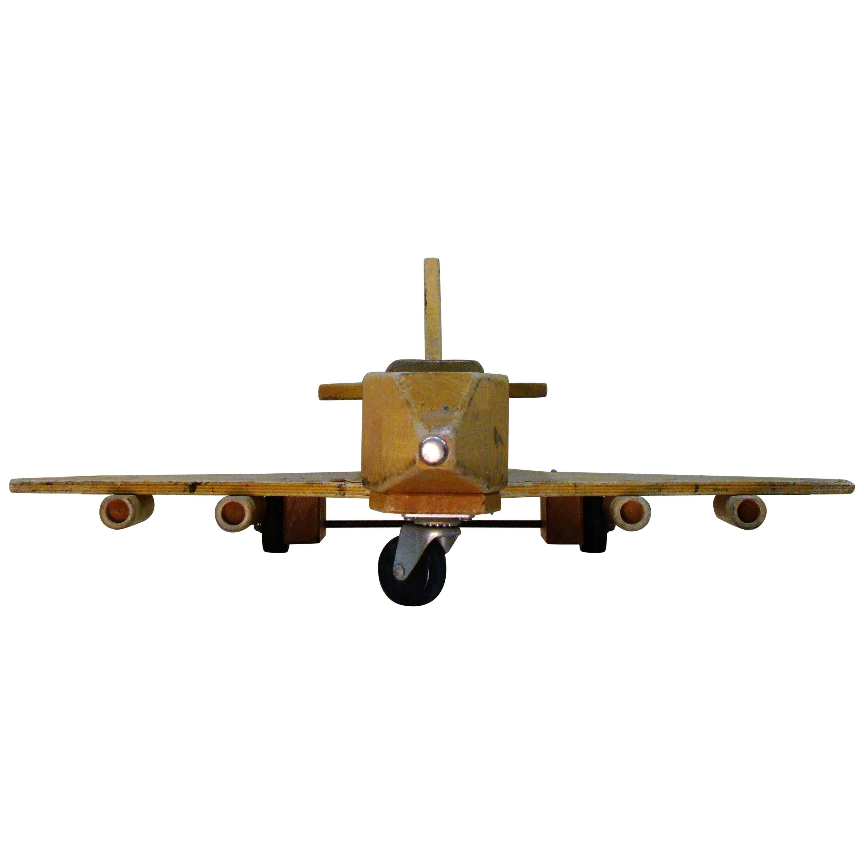 Community Playthings Wooden Toy Cargo Airplane, circa 1968, USA