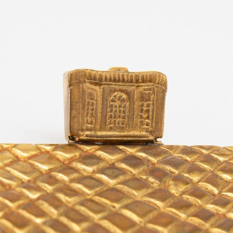 A beautiful and rare compact by Line Vautrin, France. This piece is often named