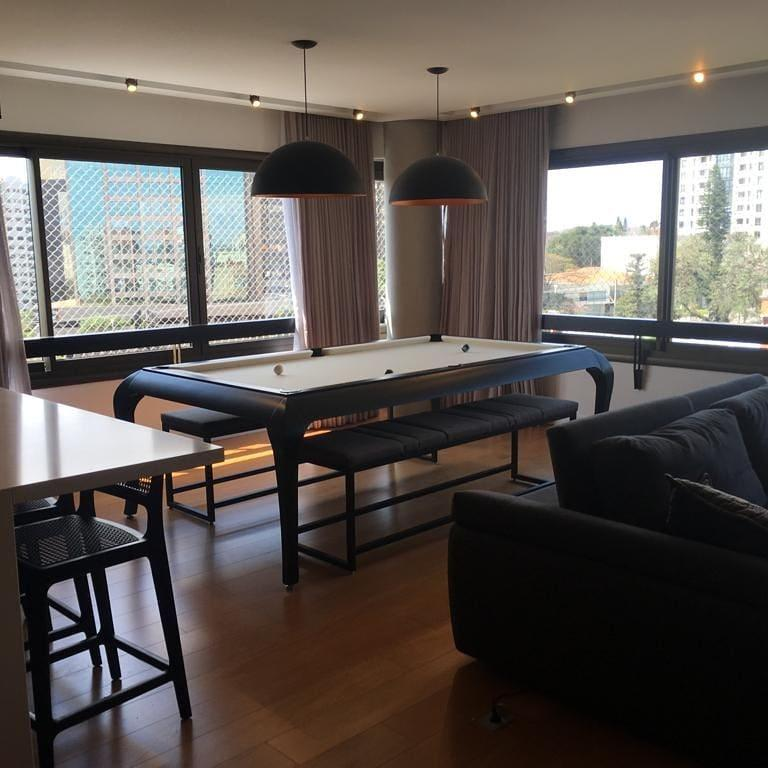 Compact Size POOL Table with Dining Top in Black Wood with the Grafite Felt For Sale 1