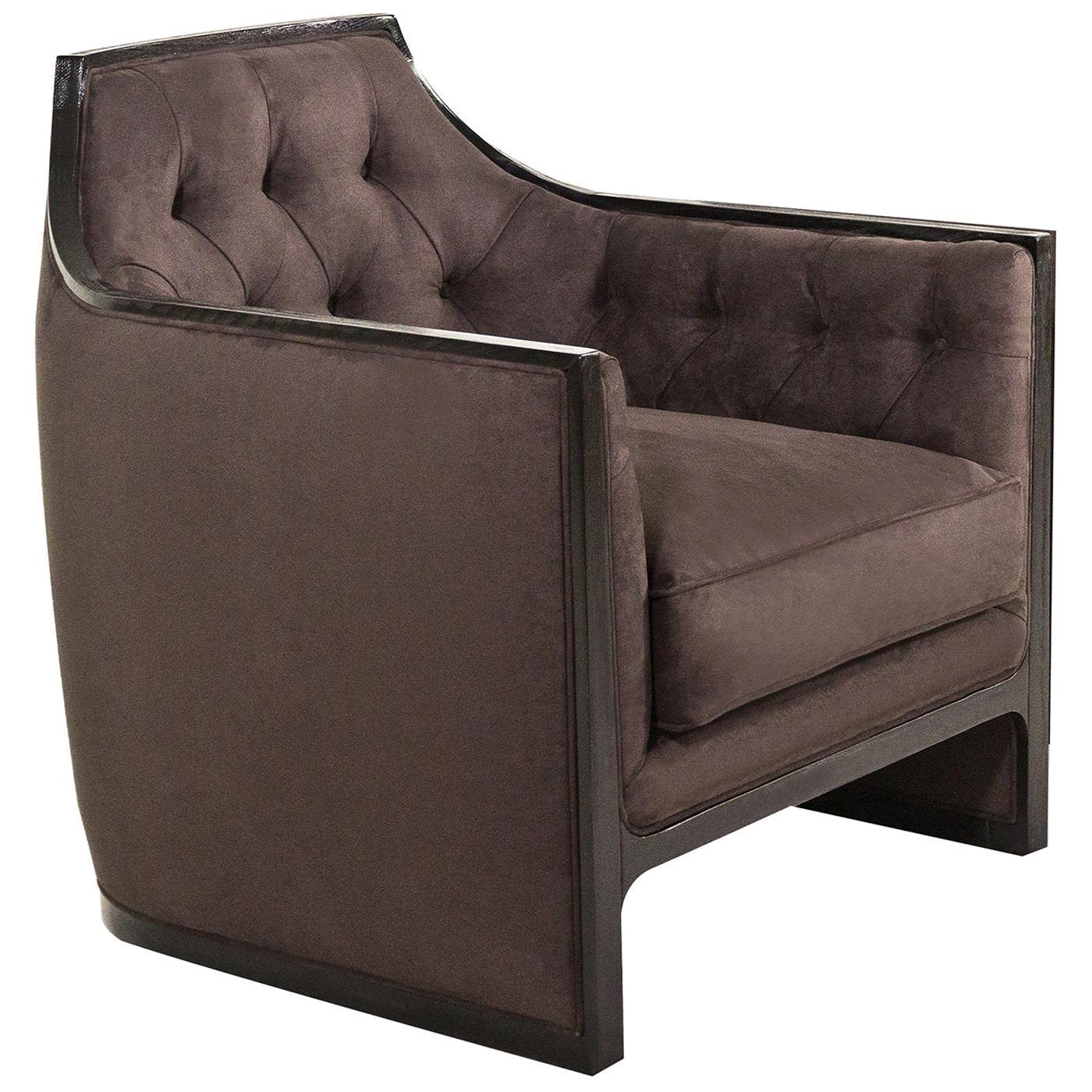 Compact Tufted Tobacco Armchair