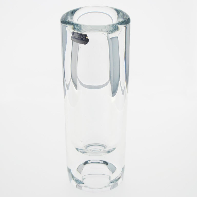De Belroy Daum Tall Crystal Vase Galaxie Collection In Excellent Condition For Sale In Atlanta, GA