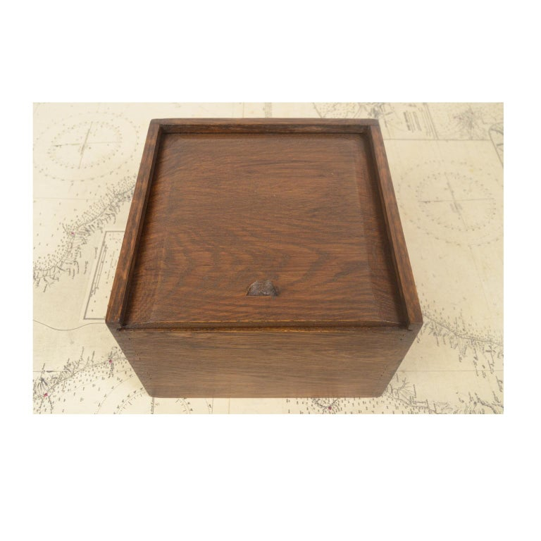 Compass in Its Original Wooden Box English Manufacture, 1860 For Sale 4