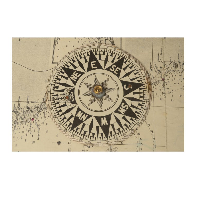 Compass in Its Original Wooden Box English Manufacture, 1860 For Sale 7