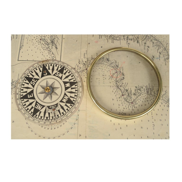 Compass in Its Original Wooden Box English Manufacture, 1860 For Sale 8
