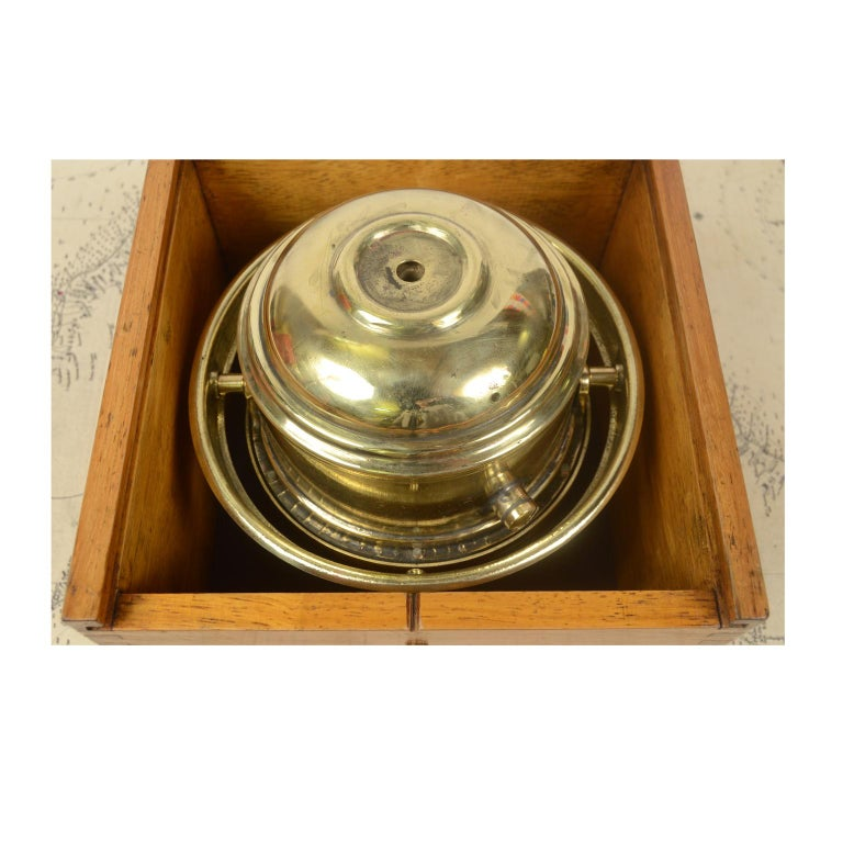 Compass in its Original Wooden Box Signed Sestrel Early 1900s For Sale 7