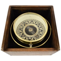 Compass Lilley & Reynolds Ltd London Made in 1930s in Its Original Wooden Box