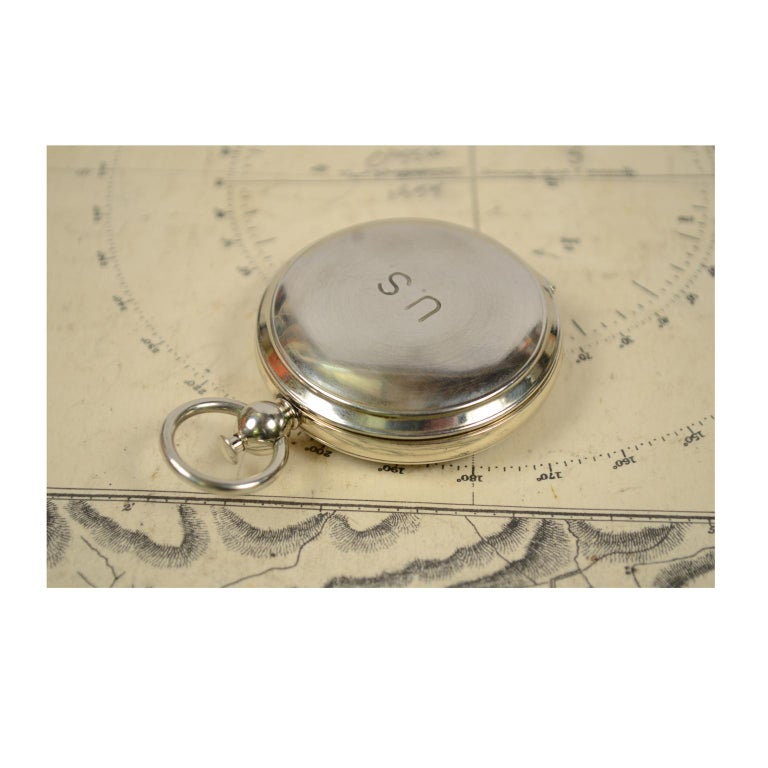 Compass Used by the American Aviation Officers in the 1920s Signed Wittnauer For Sale 7
