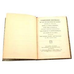 Compendio Historico De Los Arcabuceros De Madrid, Soler, Isidro, Madrid, 1795