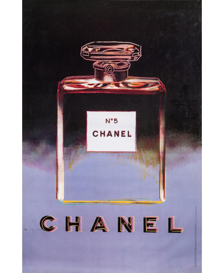 Andy Warhol Complete collection of four Posters Chanel 5. 1997 - full set of four different colors.  Notes: This poster has edited by Chanel and the Andy Warhol Foundation for the Visual Arts, NYC in 1997, from the screenprint made by Andy Warhol