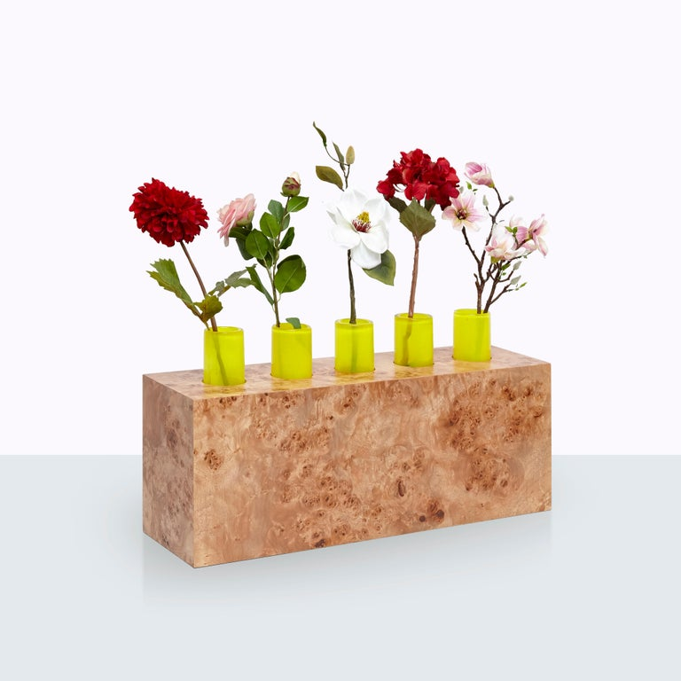 Complete Ettore Sottsass Twentyseven Woods Vases for Chinese Artificial Flowers For Sale 8