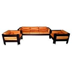 Complete Living Room Sofa and Armchairs Design Sergio Asti for Poltronova, 1962