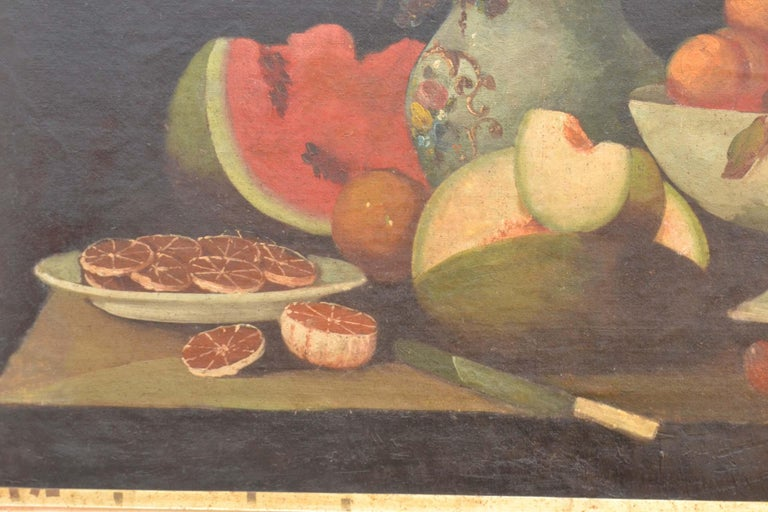 Complete Series of Six Late 18th Century Spanish Still Life Oil Paintings For Sale 7