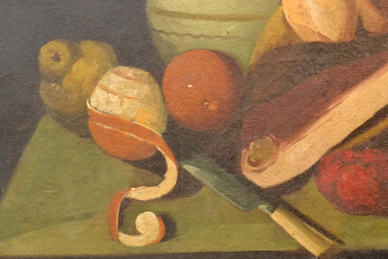 Complete Series of Six Late 18th Century Spanish Still Life Oil Paintings For Sale 8