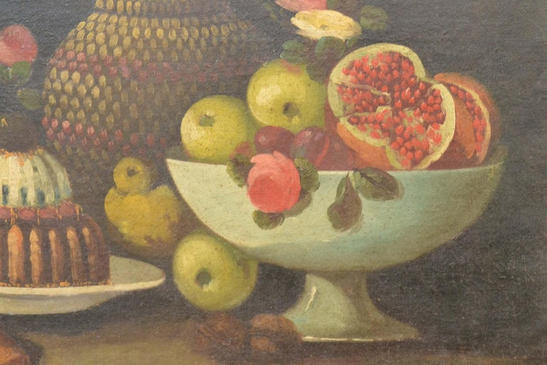 Complete Series of Six Late 18th Century Spanish Still Life Oil Paintings For Sale 9
