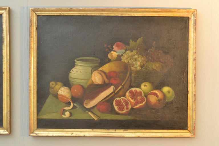 Complete Series of Six Late 18th Century Spanish Still Life Oil Paintings For Sale 12