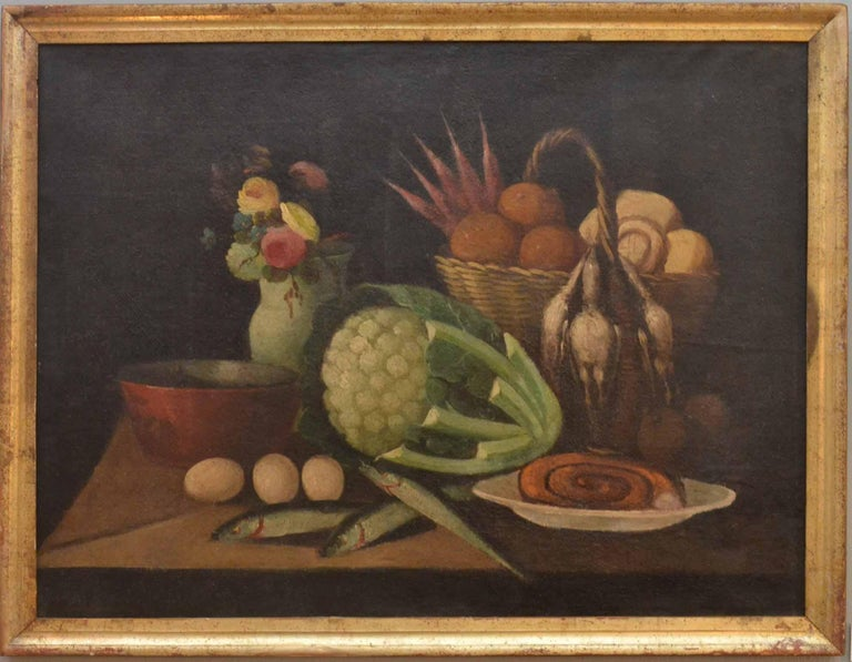 Complete Series of Six Late 18th Century Spanish Still Life Oil Paintings For Sale 1