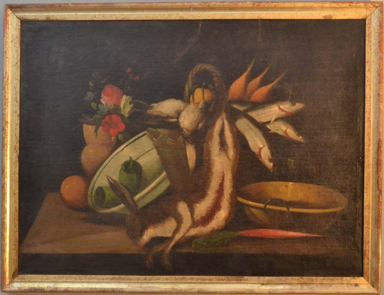 Complete Series of Six Late 18th Century Spanish Still Life Oil Paintings For Sale 3
