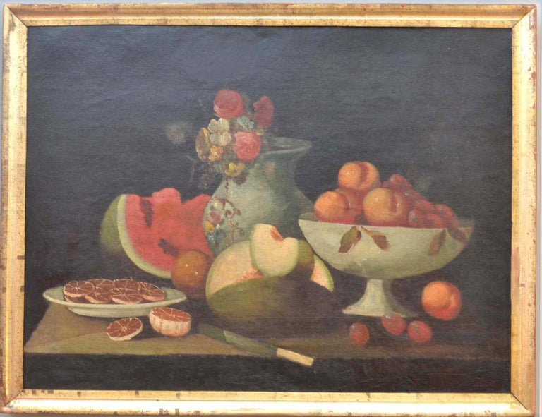 Complete Series of Six Late 18th Century Spanish Still Life Oil Paintings For Sale 5