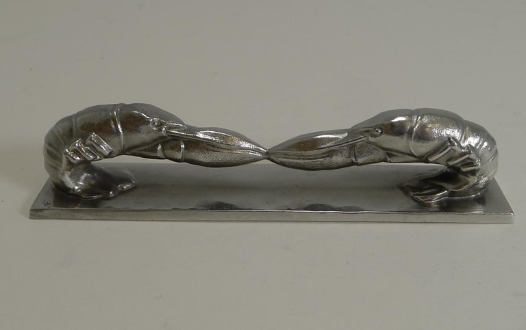 Complete Set of 12 Art Deco Knife Rests, French, Signed, Animals For Sale 1