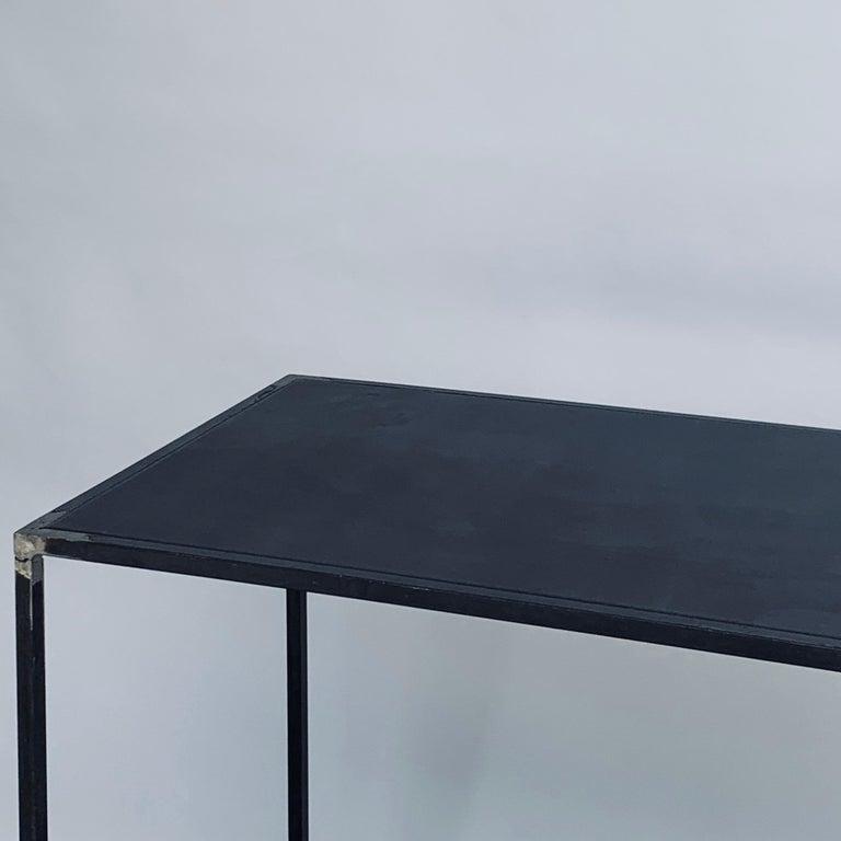 Complete Set of 'Filiforme' Minimalist Patinated Steel Living Room Tables For Sale 10