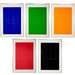 """Complete Suite of Five Silkscreens by Robert Motherwell, """"London Series I"""""""