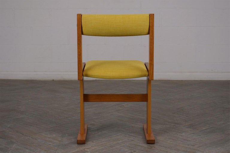 Fabric Completly Restored Set of Six Poul Hermann Poulsen Midcentury Dinning Chairs For Sale