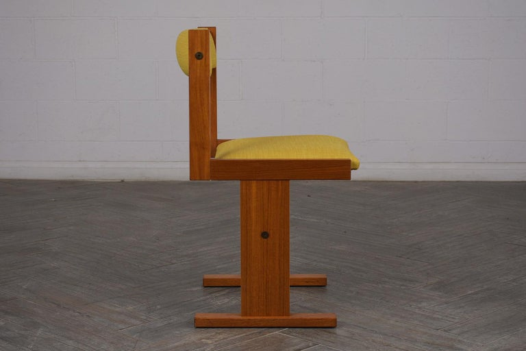 Completly Restored Set of Six Poul Hermann Poulsen Midcentury Dinning Chairs For Sale 1