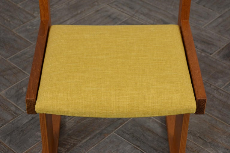 Completly Restored Set of Six Poul Hermann Poulsen Midcentury Dinning Chairs For Sale 3