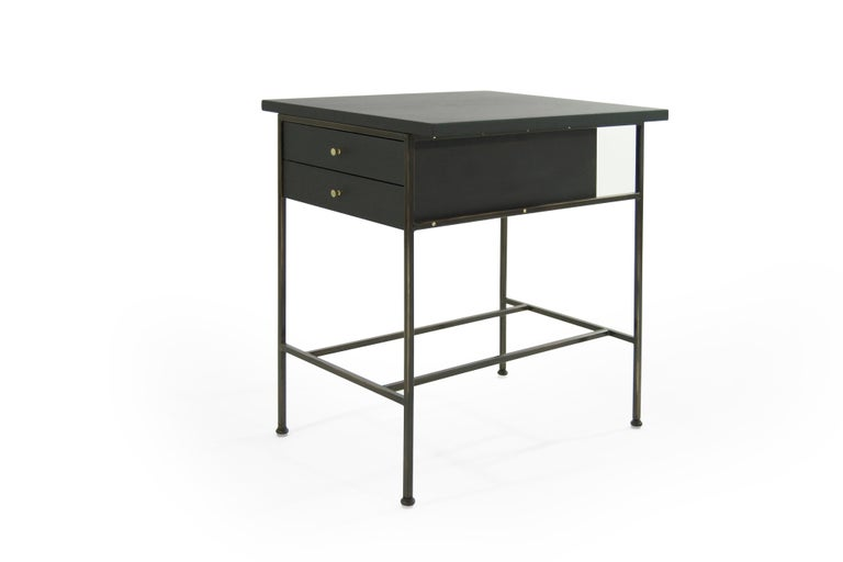 Complimenting Set of Bronze End Tables by Paul McCobb For Sale 1