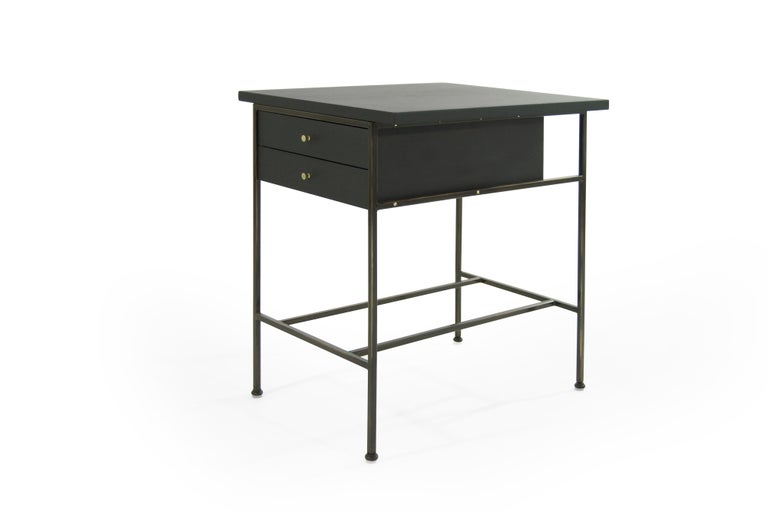 Complimenting Set of Bronze End Tables by Paul McCobb For Sale 2
