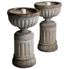 Composite Stone Garden Urns
