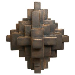 """""""Composition 11.1"""" Table Sculpture in Bronze Finish by Dan Schneiger"""