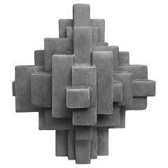 """Composition 11.3"" Table Sculpture in Dark Grey Finish by Dan Schneiger"