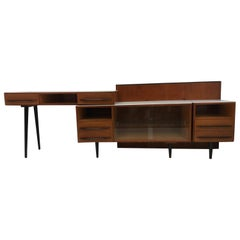 Composition Chest of Drawer and Writing Desk Designed by Mojmít Požár, 1960s