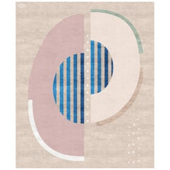 Composition III, Contemporary Wool and Silk Handmade Fine Rug